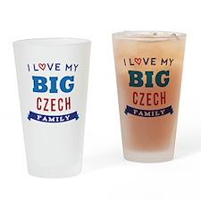 I Love My Big Czech Family Drinking Glass