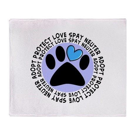 SPAY NEUTER PENDANT.PNG Throw Blanket
