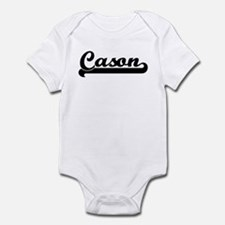 Black jersey: Cason Infant Bodysuit