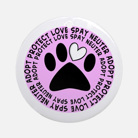 Spay neuter BIGGER PINK.PNG Ornament (Round)