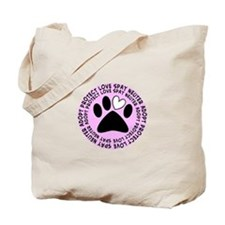 Spay neuter BIGGER PINK.PNG Tote Bag