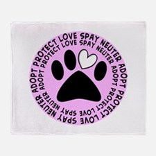 Spay neuter BIGGER PINK.PNG Throw Blanket