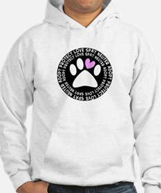 spay neuter adopt BLACK OVAL.PNG Jumper Hoody