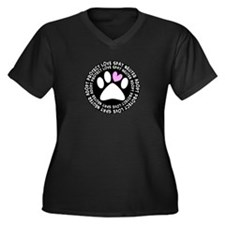 spay neuter adopt BLACK OVAL.PNG Women's Plus Size