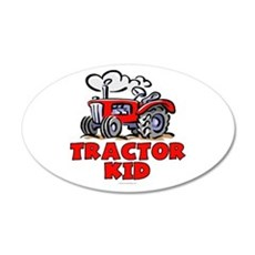 Red Tractor Kid Wall Decal