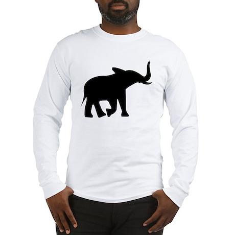 black elephant Long Sleeve T-Shirt