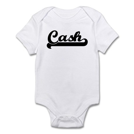 Black jersey: Cash Infant Bodysuit