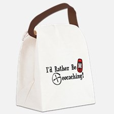 Rather Be Geocaching Canvas Lunch Bag