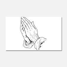 Praying Hands Car Magnet 20 x 12