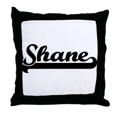 Black jersey: Shane Throw Pillow