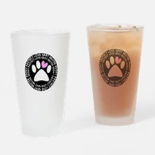 spay neuter adopt BLACK OVAL.PNG Drinking Glass