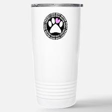 spay neuter adopt BLACK OVAL.PNG Thermos Mug