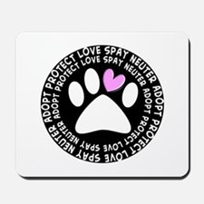 spay neuter adopt BLACK OVAL.PNG Mousepad