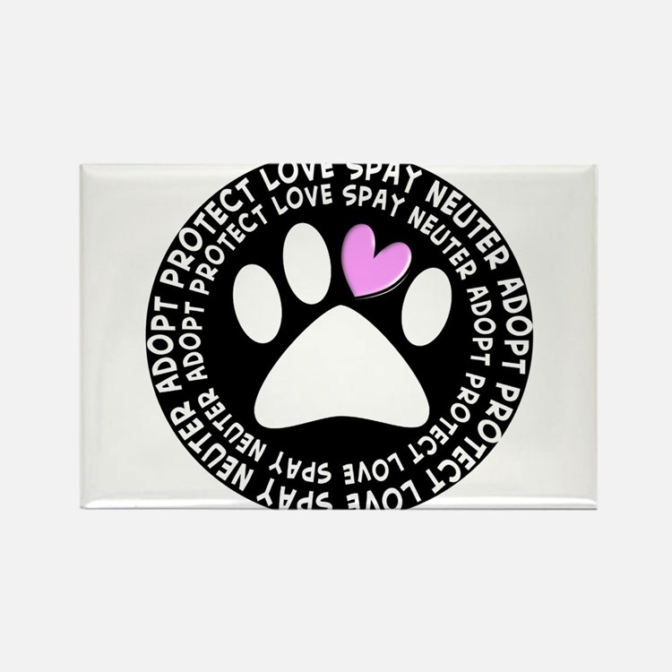 spay neuter adopt BLACK OVAL.PNG Rectangle Magnet