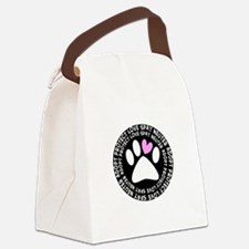 spay neuter adopt BLACK OVAL.PNG Canvas Lunch Bag