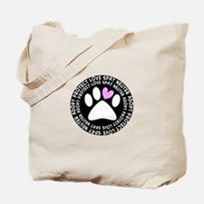 spay neuter adopt BLACK OVAL.PNG Tote Bag