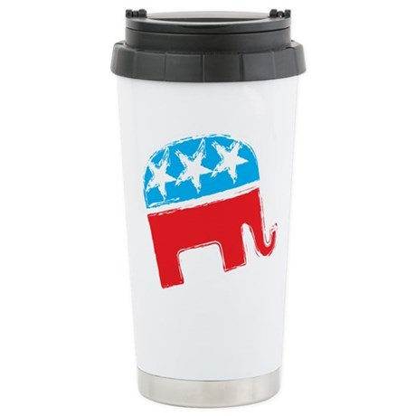 Republican Elephant Stainless Steel Travel Mug