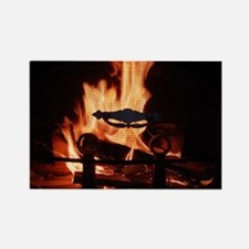 COZY FIRE™ Rectangle Magnet