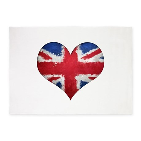 British heart 5'x7'Area Rug