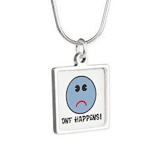 DNF Happens! Silver Square Necklace