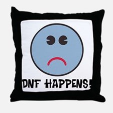 DNF Happens! Throw Pillow
