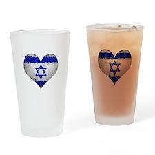 Israeli heart Drinking Glass