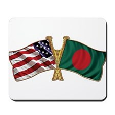 Bangladesh-American Friend Ship Flag Mousepad