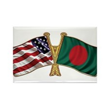 Bangladesh-American Friend Ship Flag Rectangle Mag