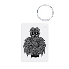 Abstract Owl Keychains