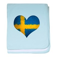 Swedish heart baby blanket