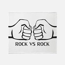 Rock VS Rock Throw Blanket