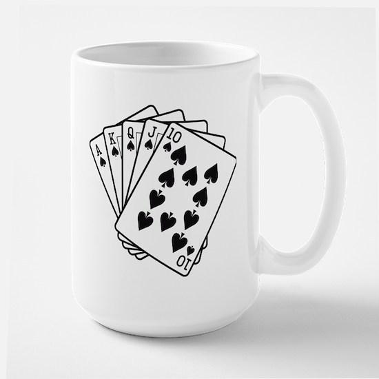 Royal Flush Large Mug