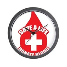 Save a Life, Donate Blood Wall Clock