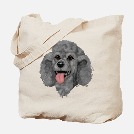 Gray Poodle Tote Bag