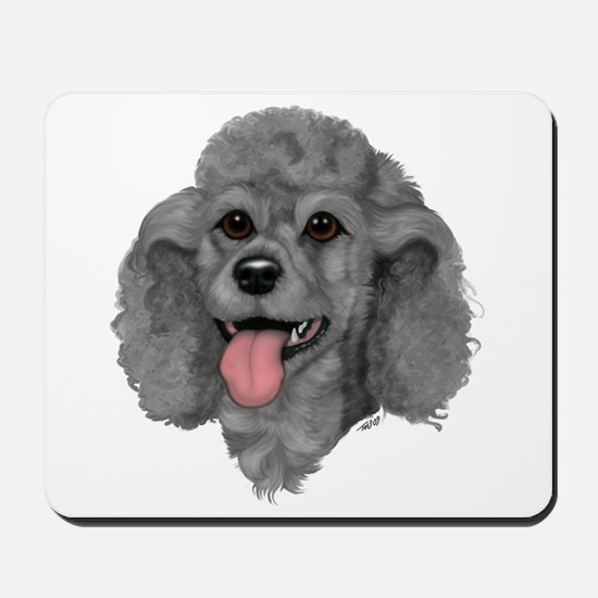 Gray Poodle Mousepad