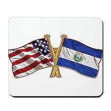 El-Salvador America Friend ship flag. Mousepad