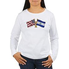El-Salvador America Friend ship flag. T-Shirt