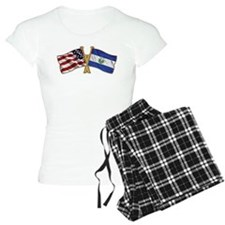 El-Salvador America Friend ship flag. Pajamas