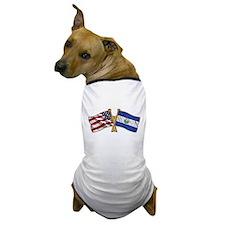 El-Salvador America Friend ship flag. Dog T-Shirt