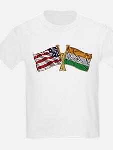India Usa Friend ship falgs T-Shirt
