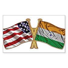 India Usa Friend ship falgs Decal