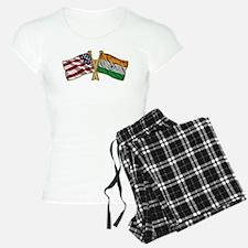 India Usa Friend ship falgs Pajamas