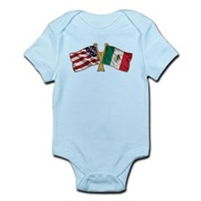 Mexico USA Friend ship flag Infant Bodysuit