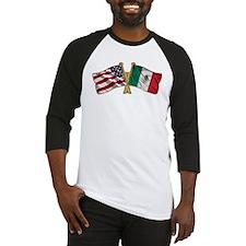 Mexico USA Friend ship flag Baseball Jersey