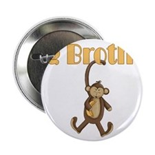 """Big Brother Cute Monkey 2.25"""" Button"""