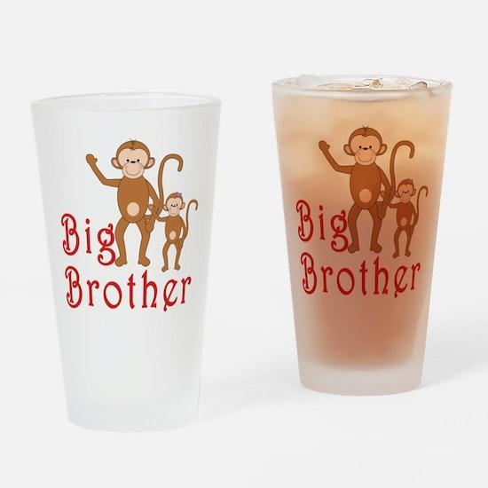 Big Brother Cute Monkeys 2 Drinking Glass
