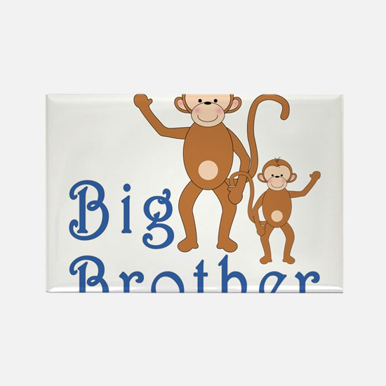 Big Brother Cute Monkeys Rectangle Magnet