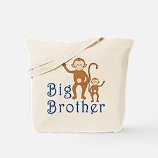 Big Brother Cute Monkeys Tote Bag