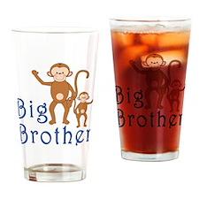 Big Brother Cute Monkeys Drinking Glass