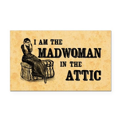 Madwoman In The Attic Rectangle Car Magnet